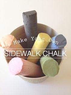 Make Your Own Sidewalk Chalk!