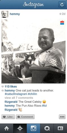 If Famous Writers Had Instagram