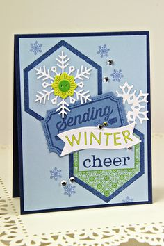 Sending Winter Cheer Card by Erin Lincoln for Papertrey Ink (October 2014)