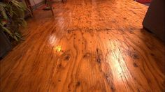 sand & smooth out plywood subfloors, varnish three coats. A distinctive, functional floor for a fraction of the price of what one would normally spend !