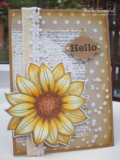 Beth's Little Card Blog: Penny Black Saturday #165!
