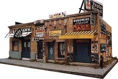 Addams Ave. Part One -- Kit - 5 x 9 12.7 x 22.5cm - HO-Scale (dwn1000) Downtown-Deco HO Scale Model Railroad Buildings