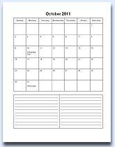 Printable Calendar 2014 – Printable Monthly Calendar Templates