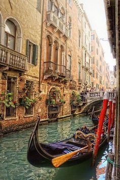 Venice, Italy. I love the gondolas!