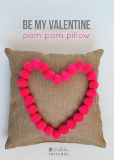 DIY Valentine Pom Po