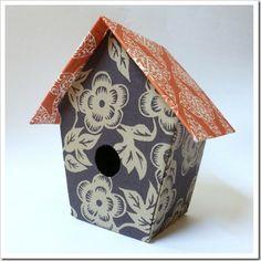 ATELIER CHERRY: Casa de passarinho forrada com tecido