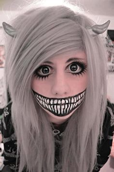 crazy makeup | where the wild things are /girl Maybe ill do something like this next years halloween, this year im batgirl