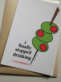 Funny Pregnancy Announcements Set of 12 - I finally stopped drinking...i'm pregnant