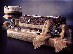 burlap wedding cake | rosscocakes