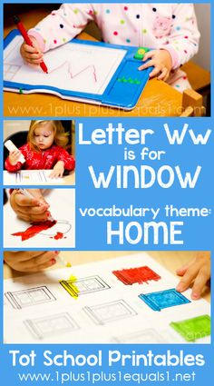Tot School Printables Letter W is for Window {free} from @{1plus1plus1} Carisa #totschool