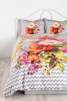 florals and chevrons!  Plum & Bow Graphic Bouquet Duvet Cover