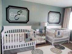 Twin Nursery Love
