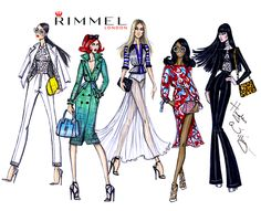 Round up of all 5 looks that I came up with in partnership with Rimmel London over LFW inspired by the runway and street style.