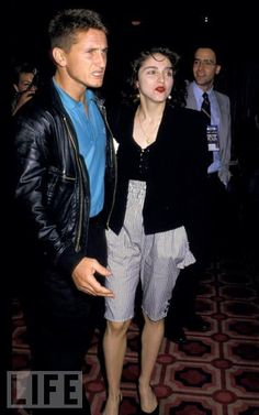 Madonna & Sean Penn (1988) June 27, 1988 - Madonna & Sean Penn at Mike Tyson vs Michael Spinks Fight