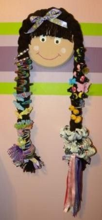 hairbow, art crafts, idea, hair bow holders, stuff, crafti, little girls hair bows, kid, little girl hair