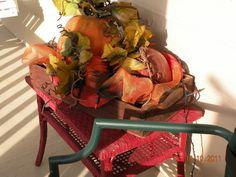 Fall decor, outside fall decor, fall wreath, pumpkins
