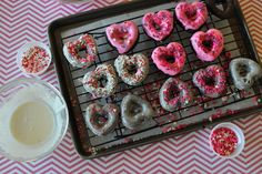 baked dark chocolate sour cream donuts