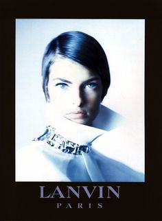 Linda Evangelistaphotographed by Paolo Roversi - Lanvin Ad Campaign: Spring/Summer 1992