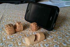corkscrew phone holder