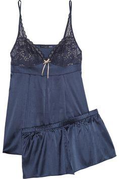 Medina stretch-silk pajama set <3