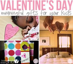 Try some of these meaningful ideas for your kids for Valentine's Day! Leave love notes, create special moments, or fill a room with balloons! So many fun ideas! #valentinesday #kids #howdoesshe