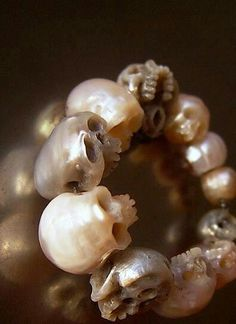 Skullpearls Accessories.  Ladies fashion Skulls Skeletal shits . Bracelets