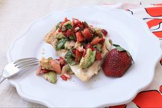 Grilled Chicken with Strawberry Avocado Salsa #Advocare