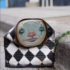 Can Man, Faces Painted on Found Cans by Street Artist My Dog Sighs