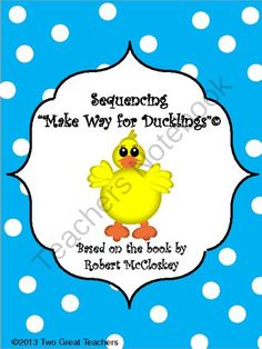 Make Way For Ducklings from Two Great Teachers on TeachersNotebook.com (30 pages)