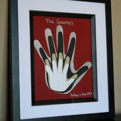 Framed Family Handprints Art