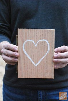 DIY Idea: A Hinged Wooden Card for Valentine's Day!