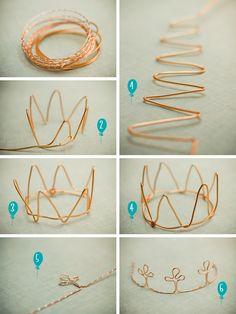 DIY: wire crown