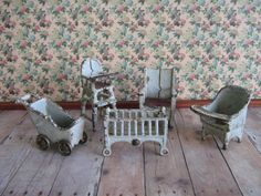 Kilgore Cast Iron Dollhouse Furniture  5 Piece by TheToyBox, $160.00