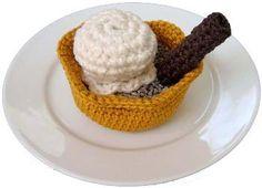 Brandy Snap Basket - Free pattern free pattern, crochet food, snap basket, basket crochet, crochet patterns