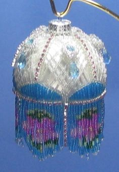 Stained Glass Beaded Ornament Cover Pattern by Brisingamen at Bead-Patterns