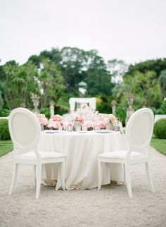 White and Pink Tablescape