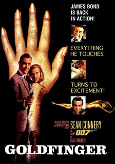 Goldfinger-Sean Connery, Gert Fröbe and Honor Blackman1964