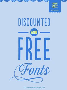 Discounted & Free Font Round UP! act fast #freefonts #fonts #typography