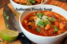 Authentic Posole Soup Recipe from The Authentic Mexican Kitchen