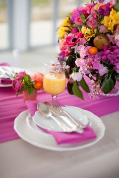 Brunch Wedding Shower....pops of color