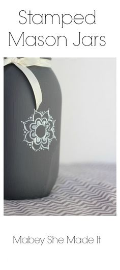 Learn how to put a custom stamp on your mason jars for a fun home decor accent. :)