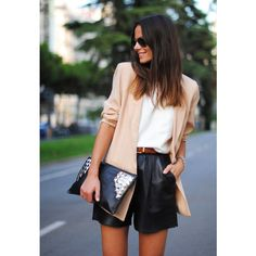 want the leather shorts!   LE CATCH short story found on Polyvore