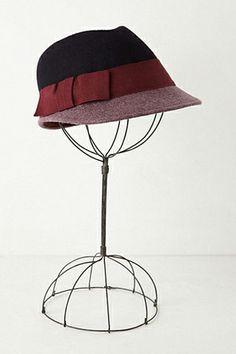 Cute Color-blocked Cloche Hat