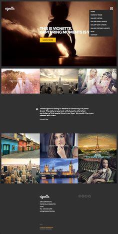 Vignette #WordPress #Photography / #Video #Theme - www.wpchats.com