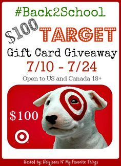 #Back2Schoo $100 Target #GiftCard #Giveaway Ends 7/24 Open to US and Canada!