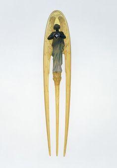 Hair comb Lalique