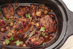 Slow Cooker Balsamic Chicken FoodieCrush.com