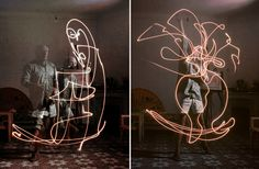electr pablo, light painting, light photography, imag, pablo picasso