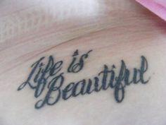 song, typewrit font, tattoos, script