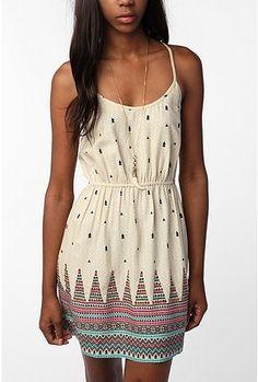 Ecote Embellished Hem Dress - StyleSays